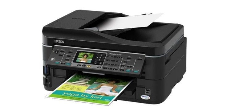 Epson WorkForce 545 с СНПЧ 3
