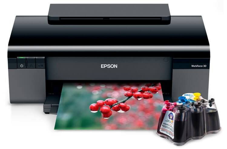 Принтер Epson Workforce 30 + СНПЧ