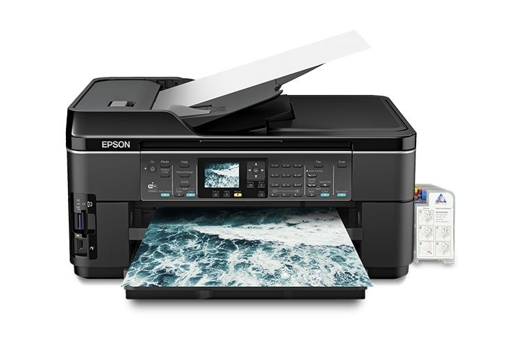 МФУ Epson WorkForce WF-7510 + СНПЧ C11CA96201