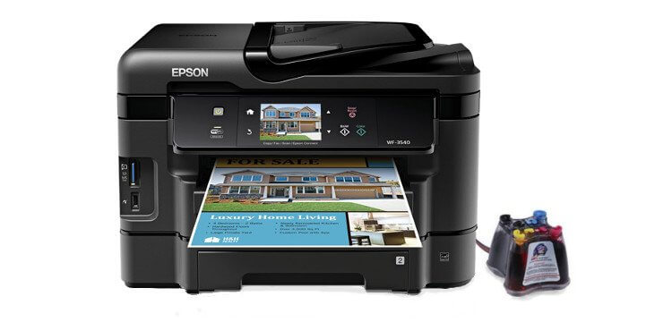 МФУ Epson Workforce WF-3540 Refurbished с СНПЧ C11CC31201