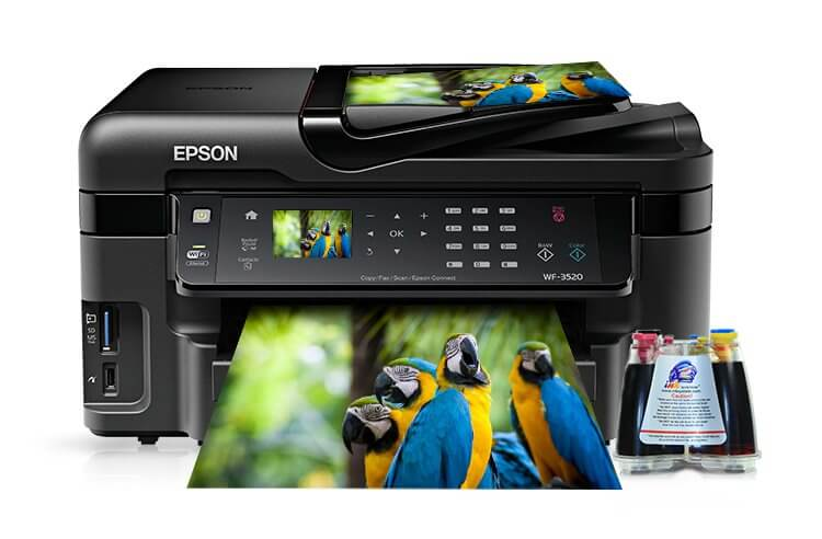 изображениеМФУ Epson Workforce WF-3520DWF Refurbished с СНПЧ