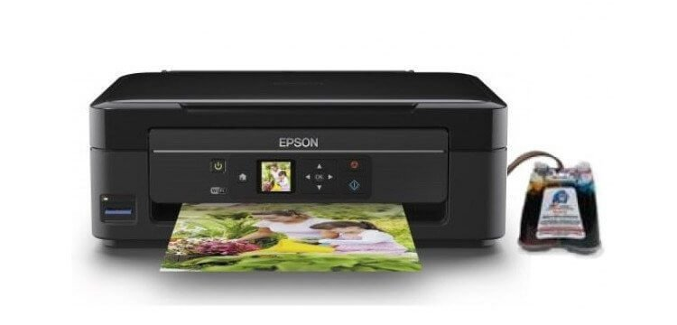 МФУ Epson Expression Home XP-322 + СНПЧ C11CD90401
